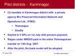 pilot districts karimnagar