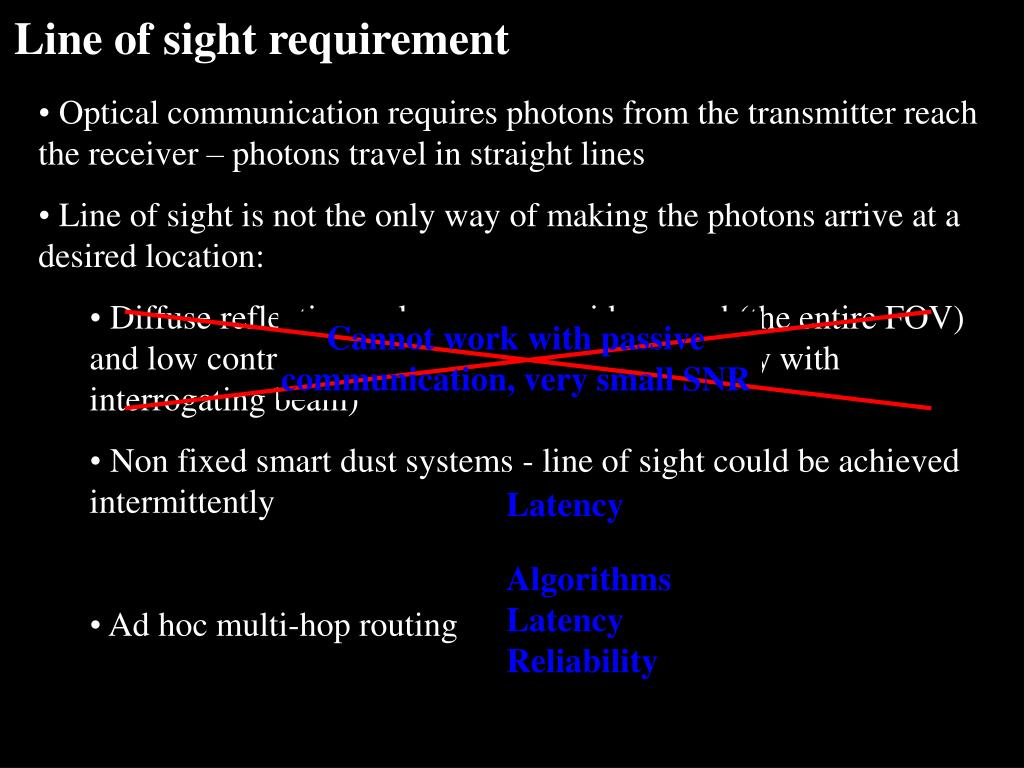 Line of sight requirement