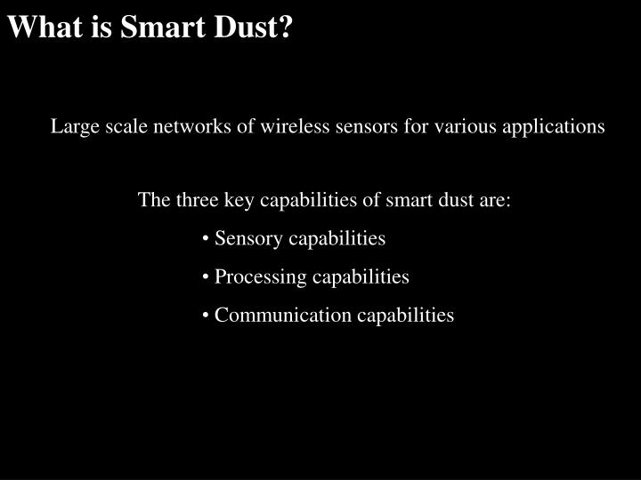 What is Smart Dust?