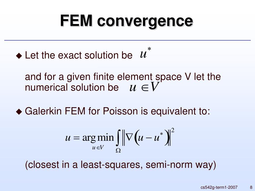 FEM convergence