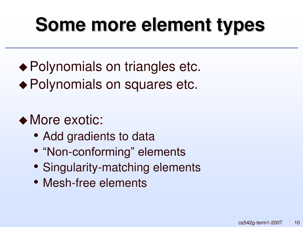 Some more element types