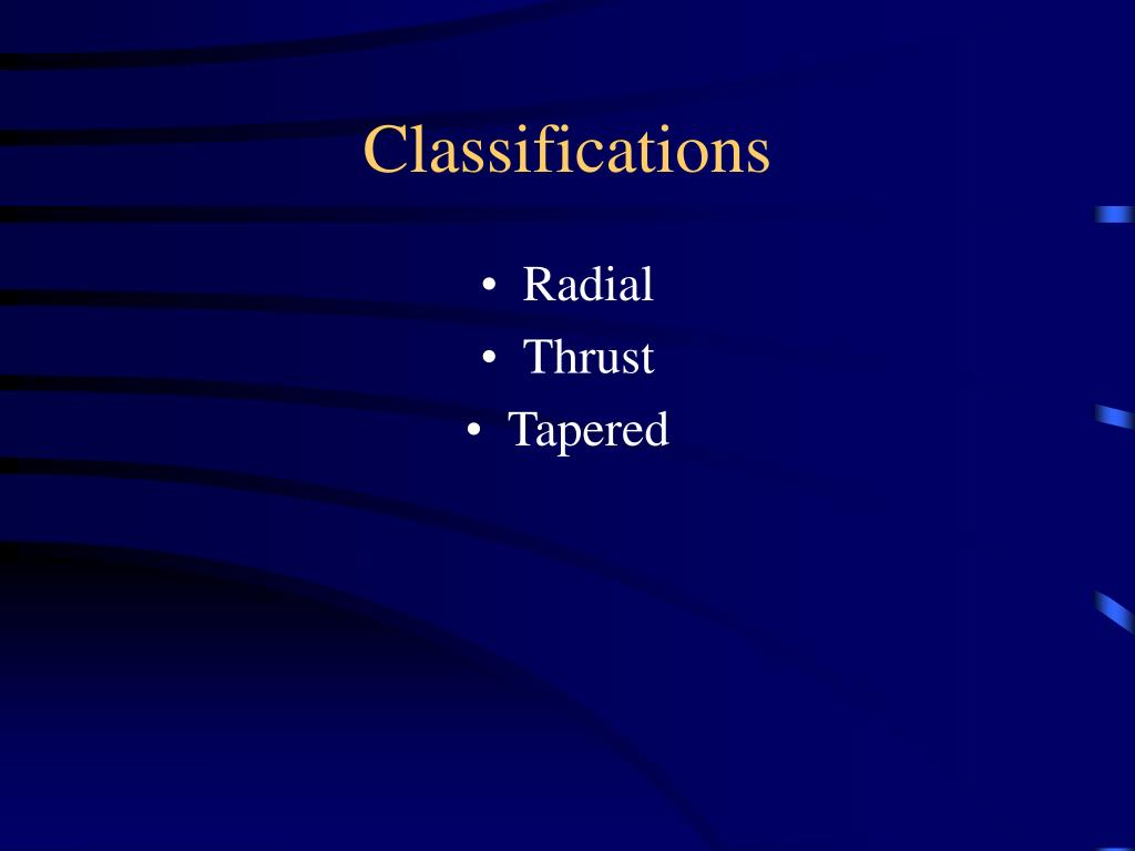 Classifications