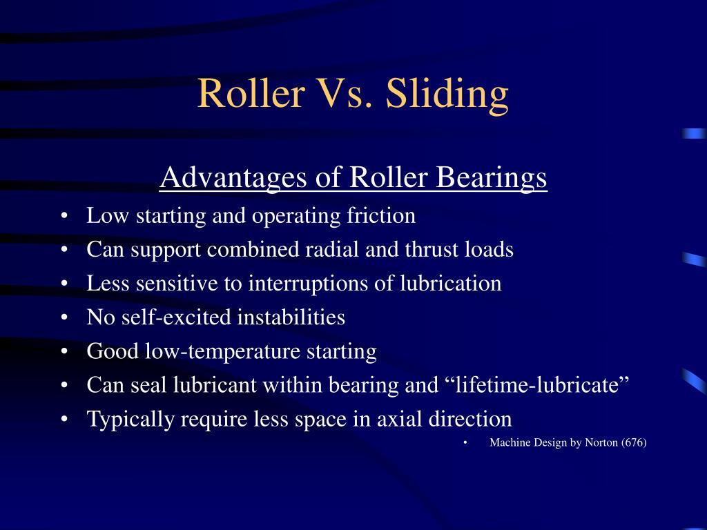 Roller Vs. Sliding