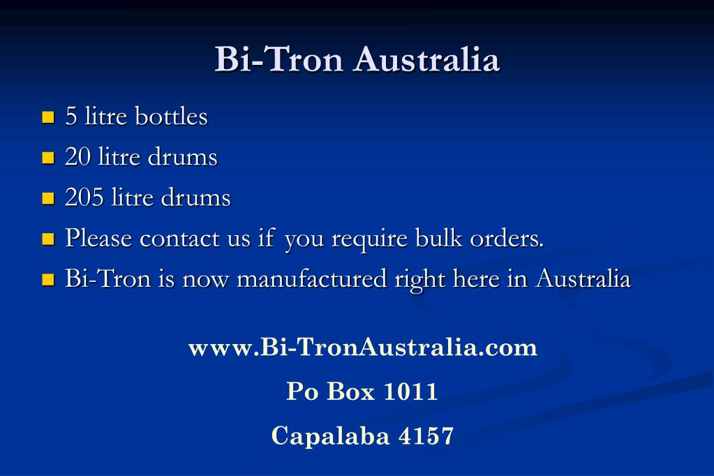 Bi-Tron Australia