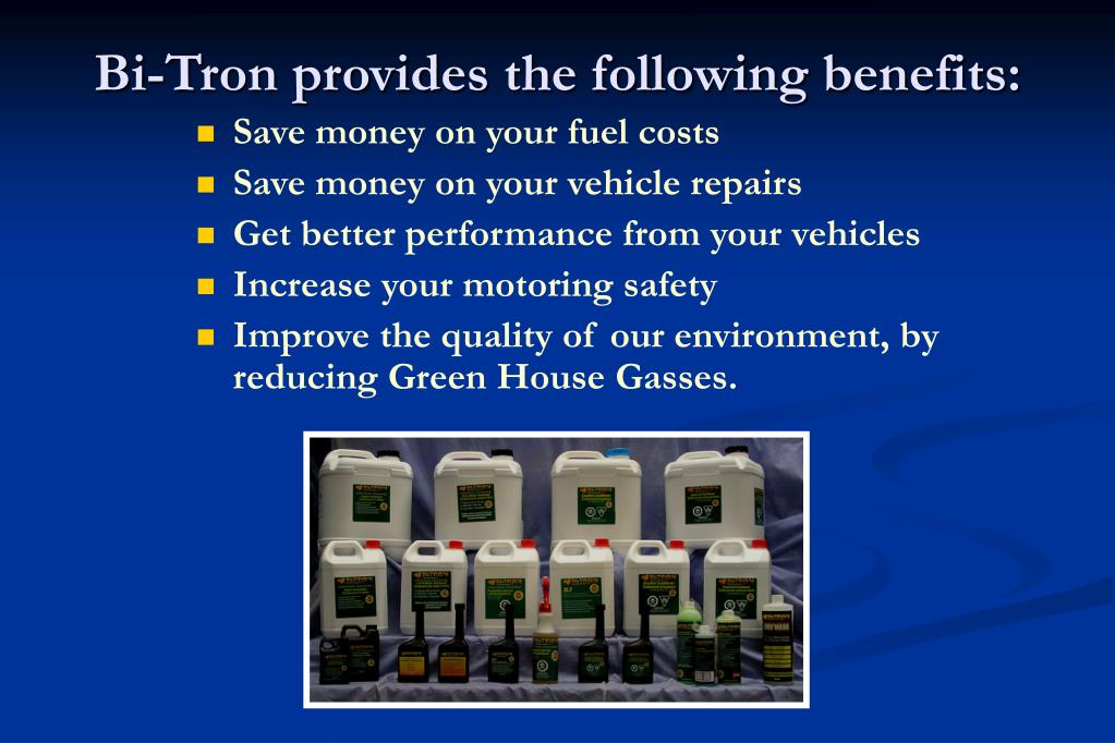 Bi-Tron provides the following benefits: