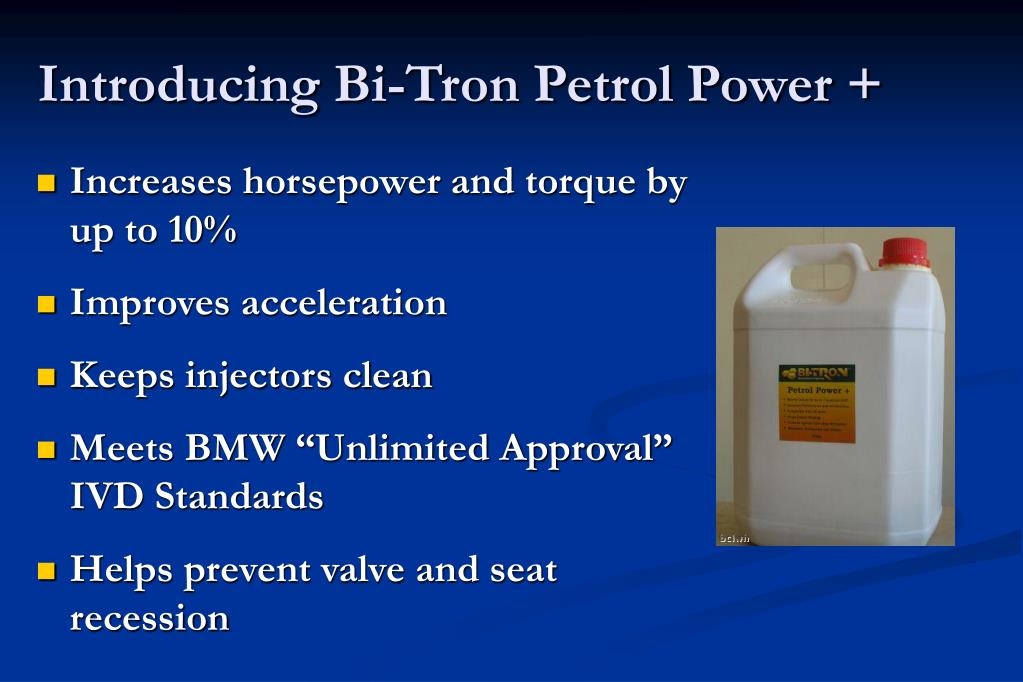 Introducing Bi-Tron Petrol Power +
