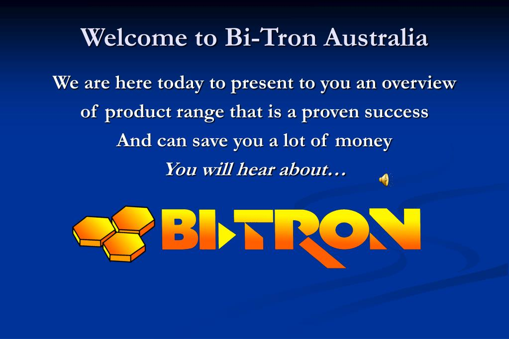 Welcome to Bi-Tron Australia
