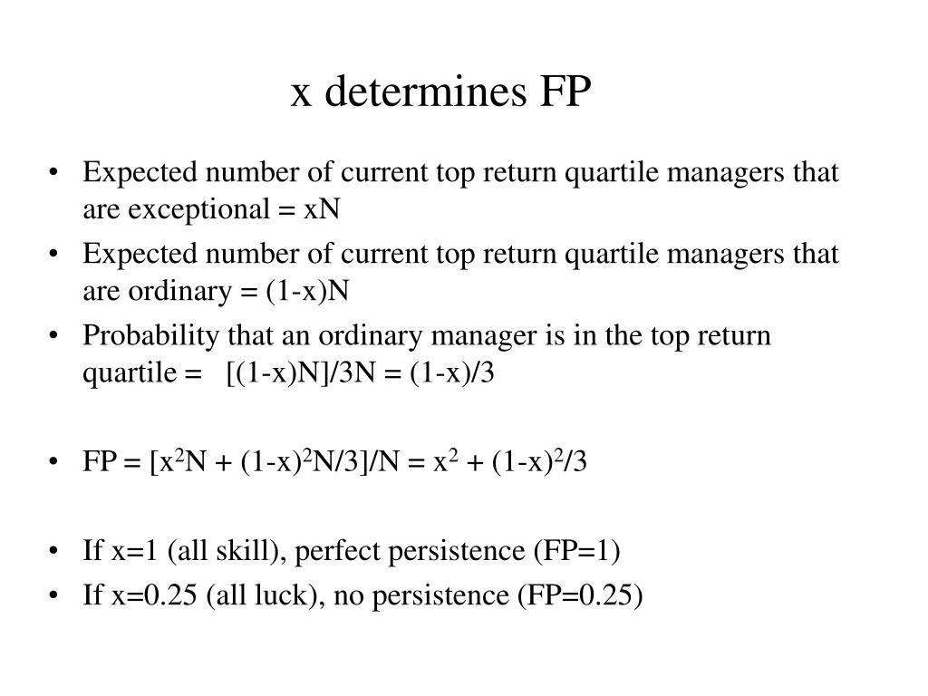 x determines FP