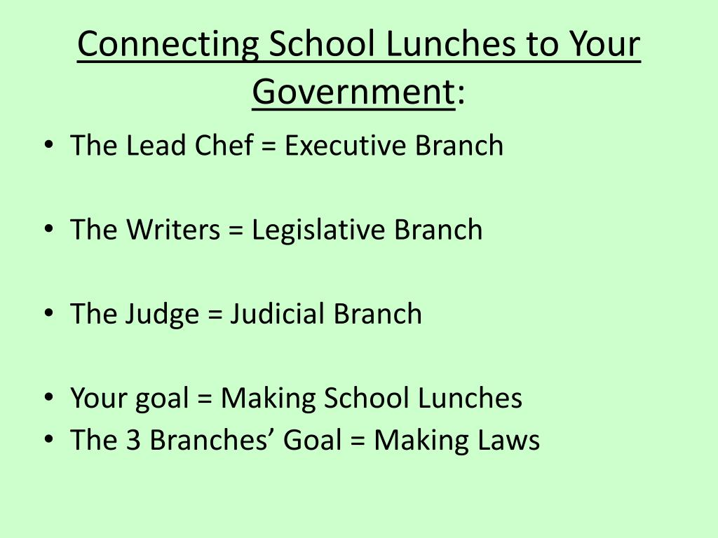 Connecting School Lunches to Your Government
