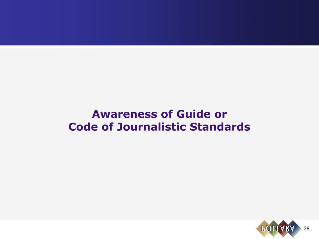 Awareness of Guide or