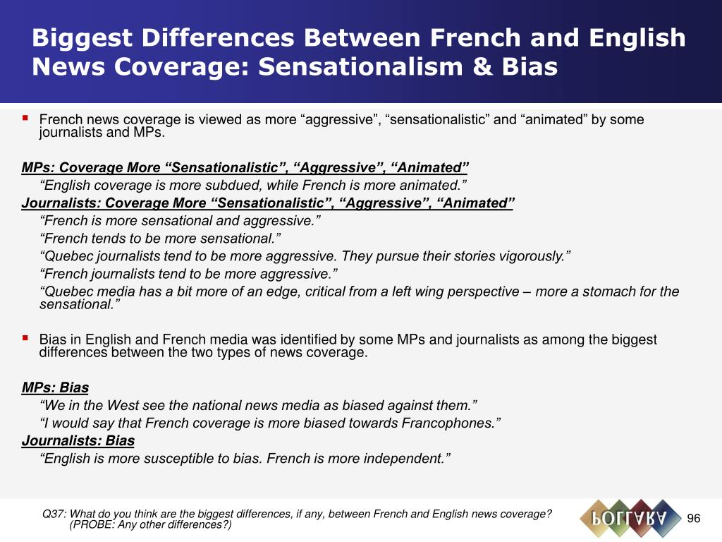 Biggest Differences Between French and English News Coverage: Sensationalism & Bias
