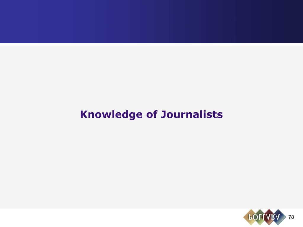Knowledge of Journalists