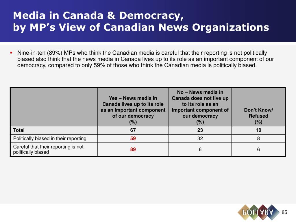 Media in Canada & Democracy,