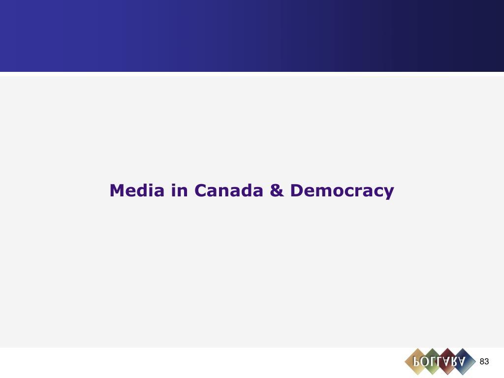 Media in Canada & Democracy