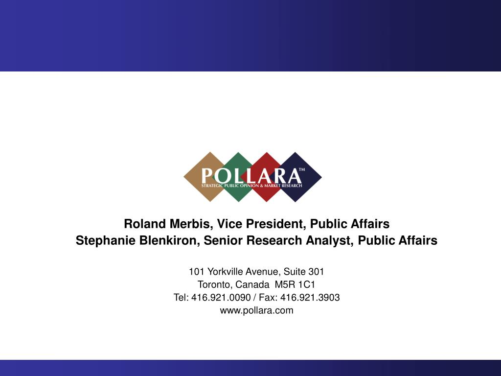 Roland Merbis, Vice President, Public Affairs