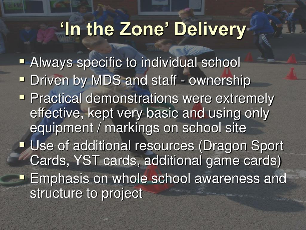 'In the Zone' Delivery
