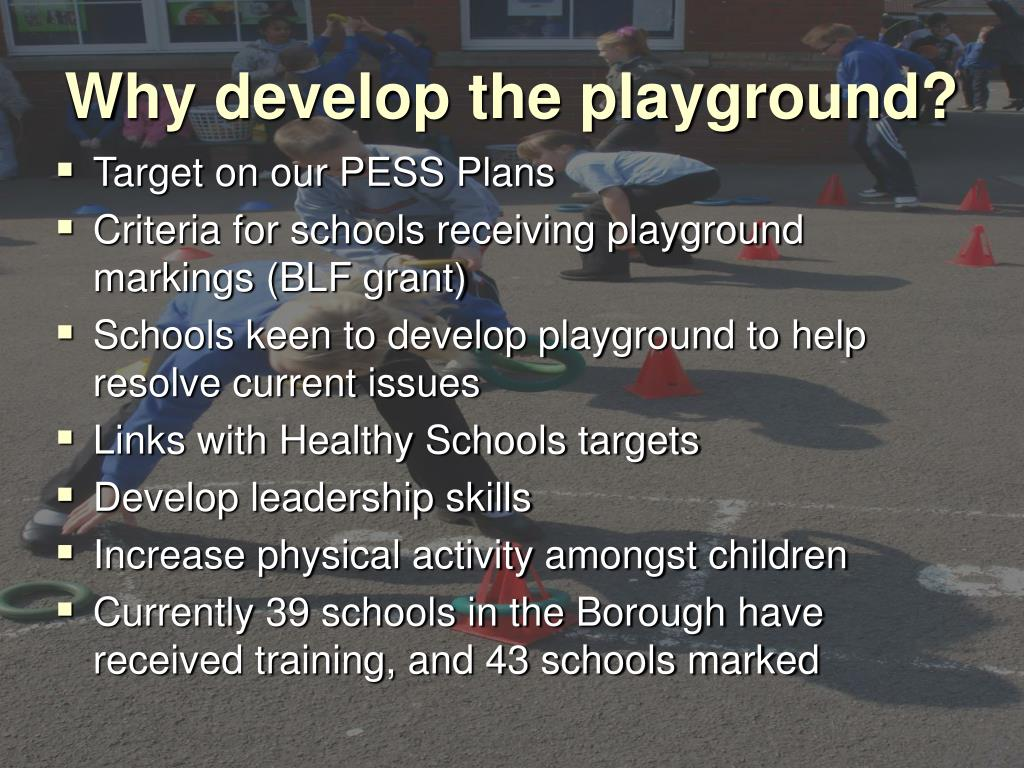 Why develop the playground?