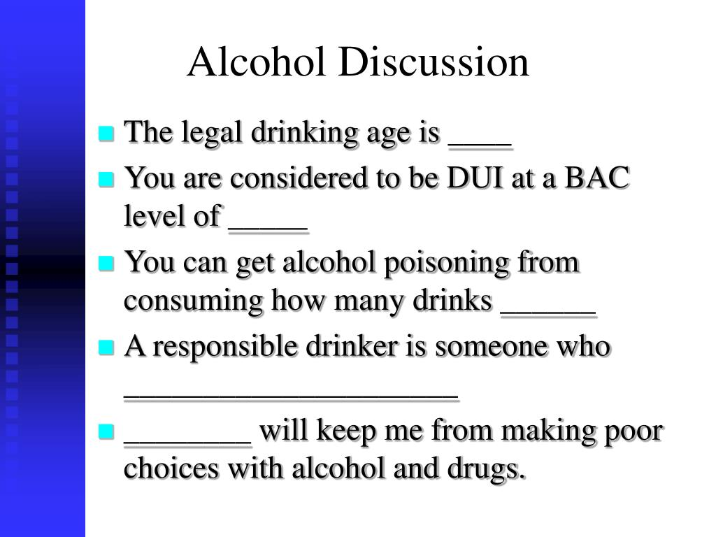 Alcohol Discussion