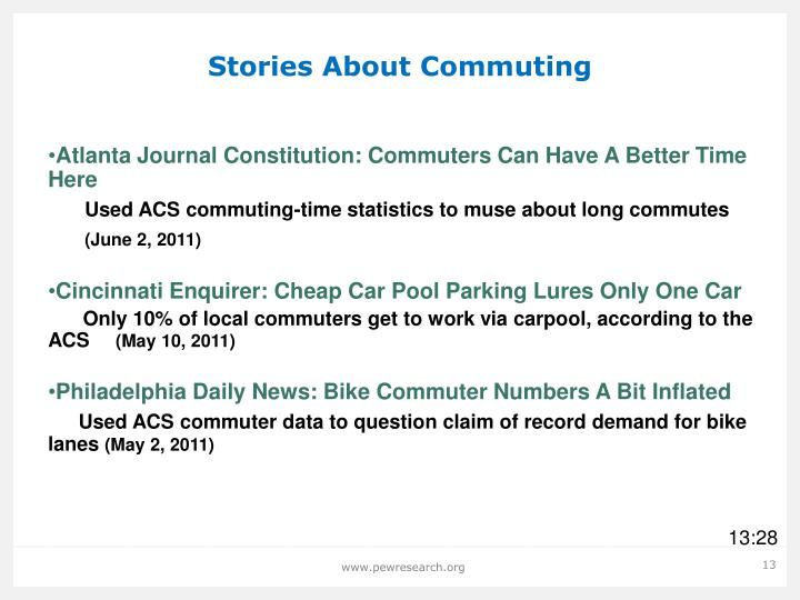 Stories About Commuting