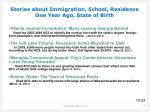 stories about immigration school residence one year ago state of birth