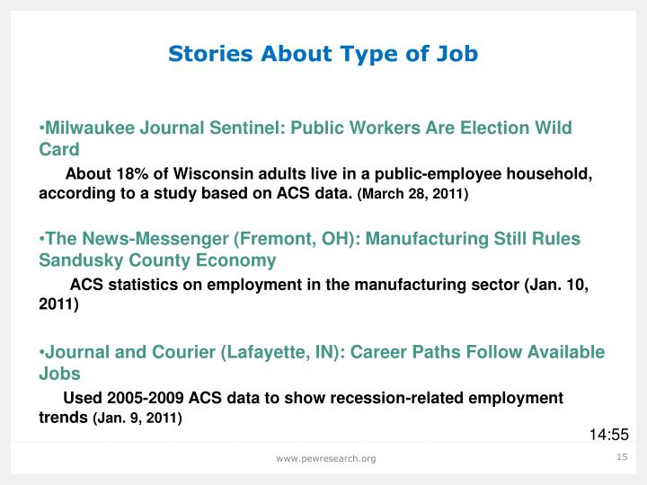 Stories About Type of Job