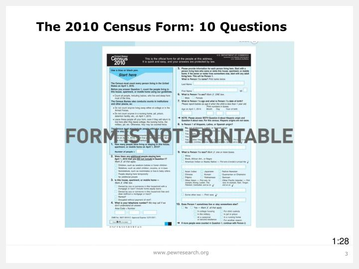 The 2010 Census Form: 10 Questions