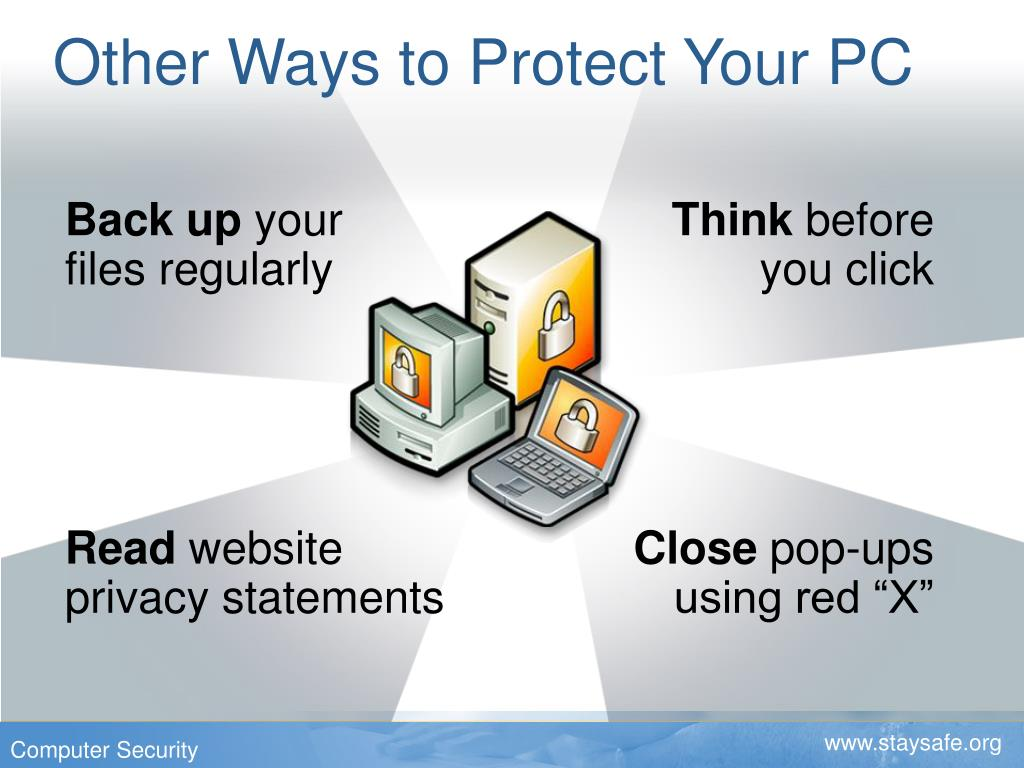 Other Ways to Protect Your PC