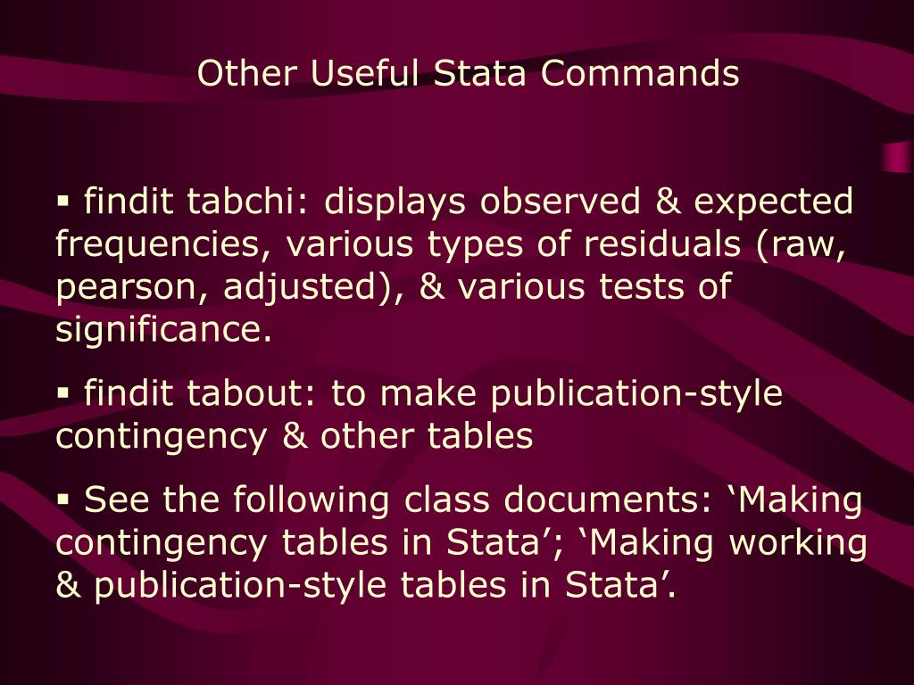 Other Useful Stata Commands