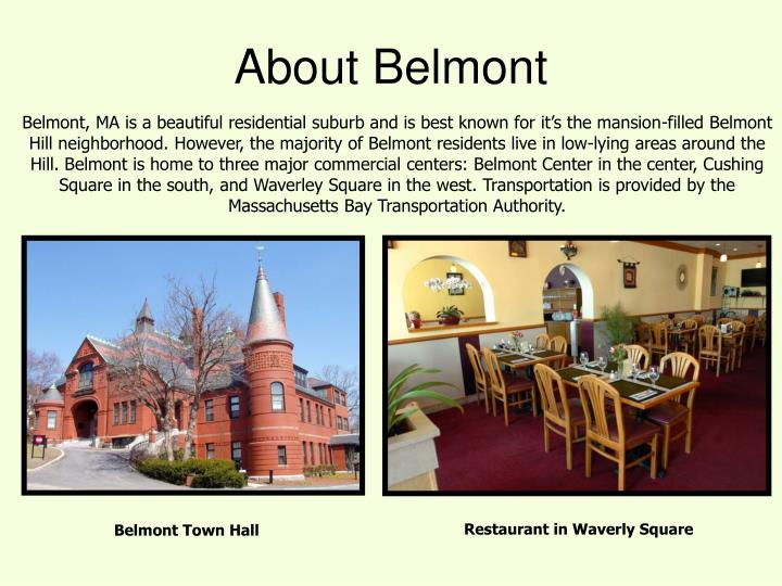 About Belmont