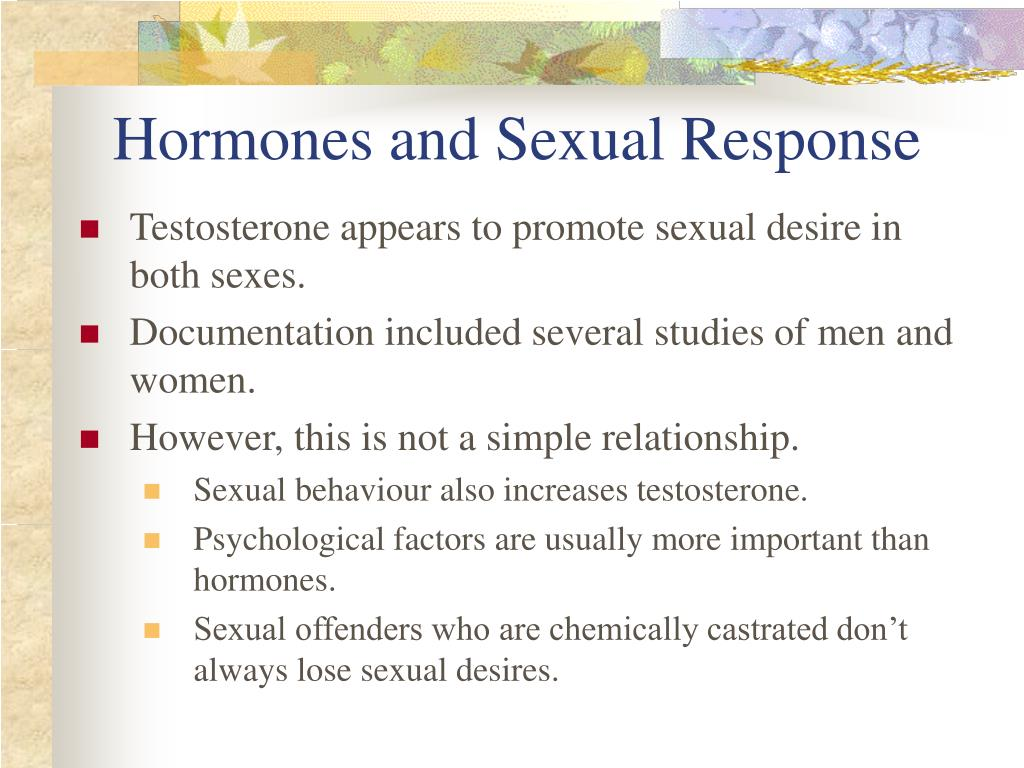 Hormones and Sexual Response