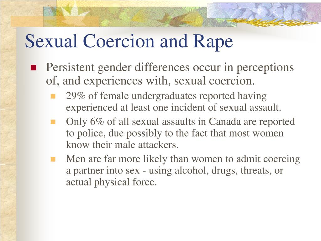Sexual Coercion and Rape