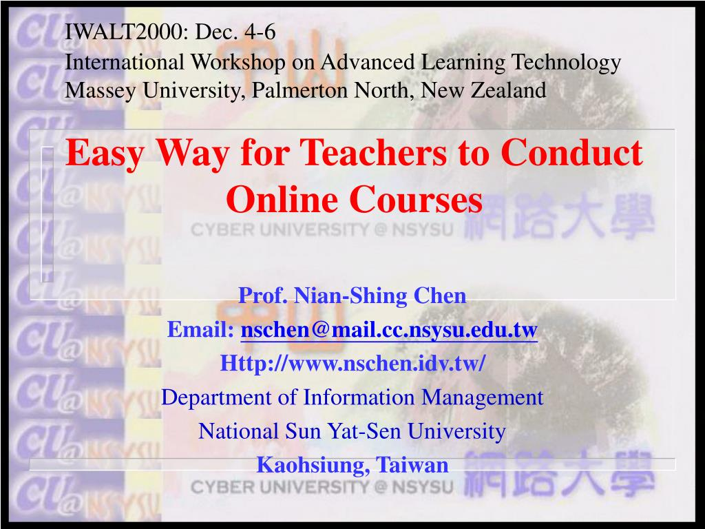 easy way for teachers to conduct online courses