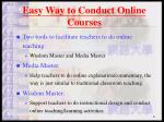 easy way to conduct online courses