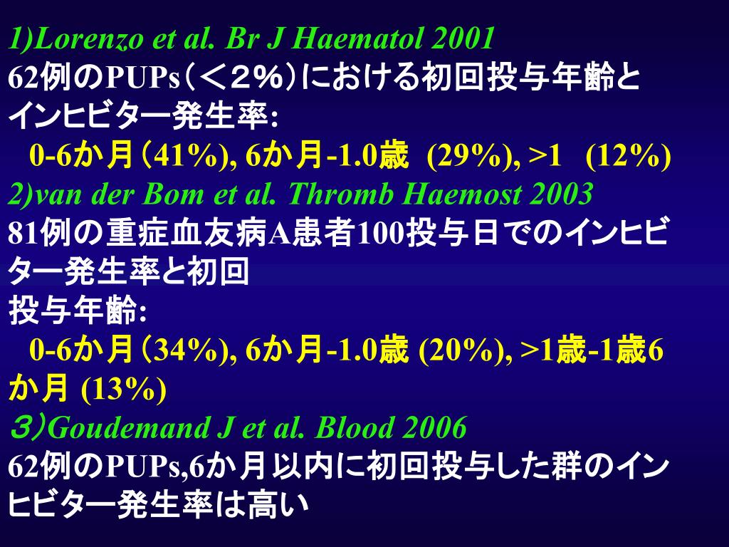 1)Lorenzo et al. Br J Haematol 2001