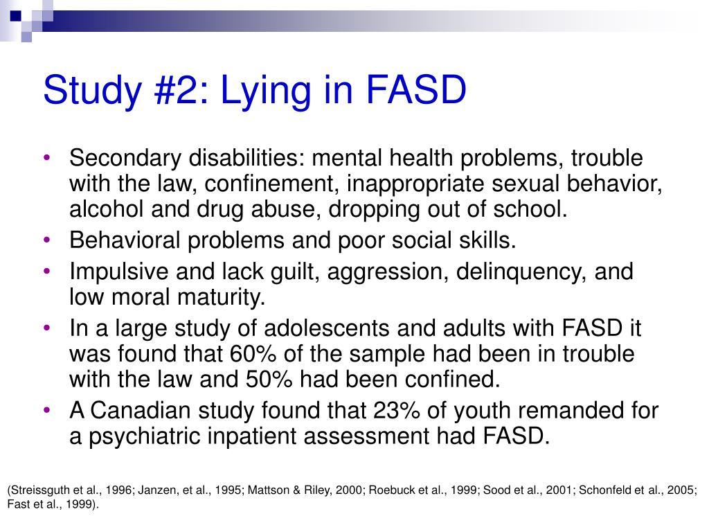 Study #2: Lying in FASD