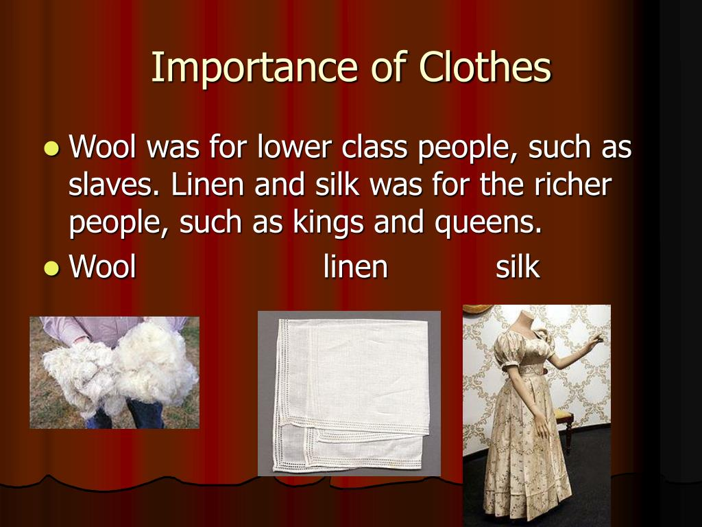 Importance of Clothes