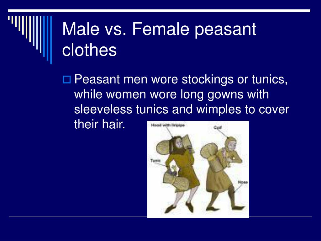 Male vs. Female peasant clothes
