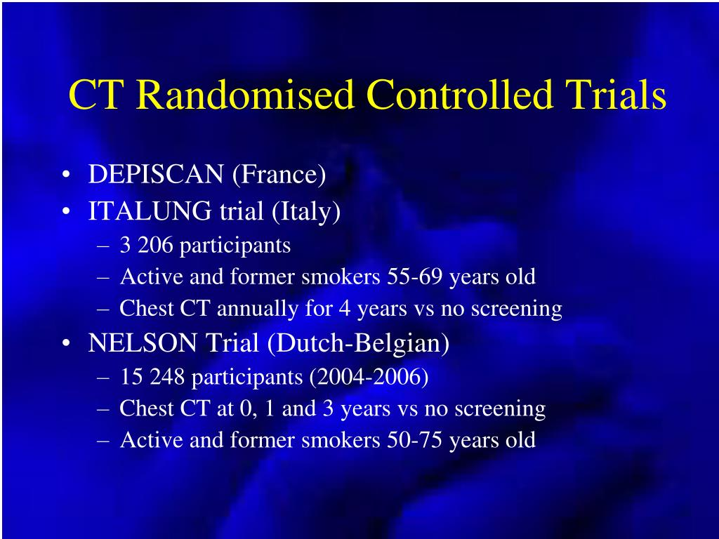 CT Randomised Controlled Trials