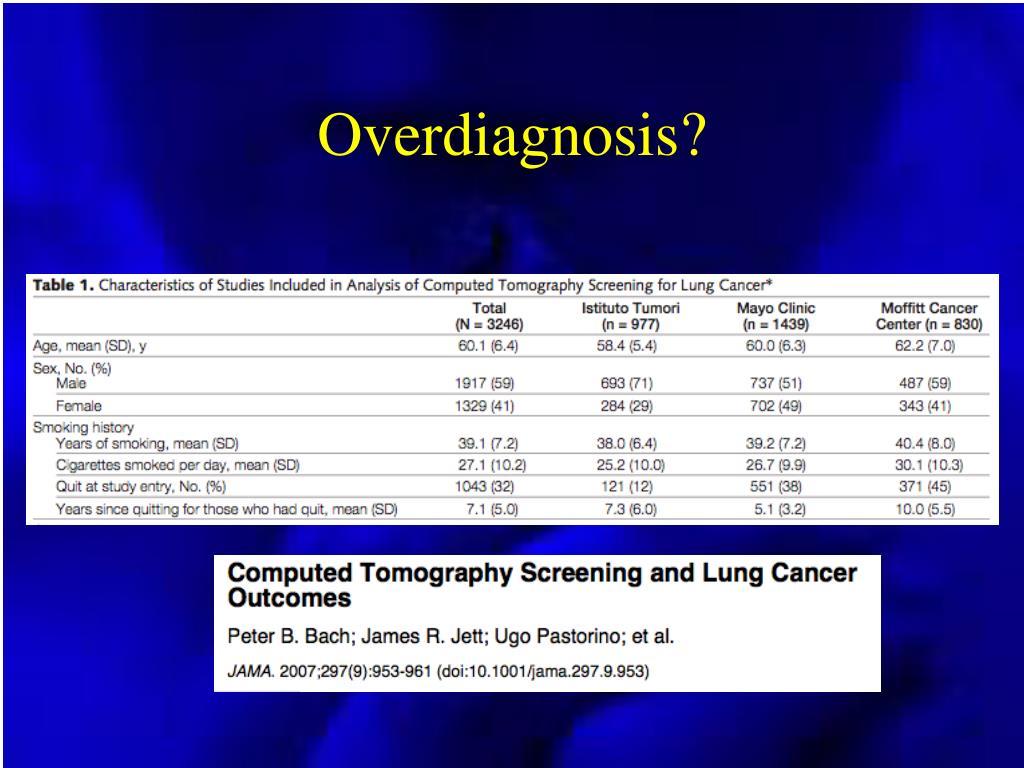 Overdiagnosis