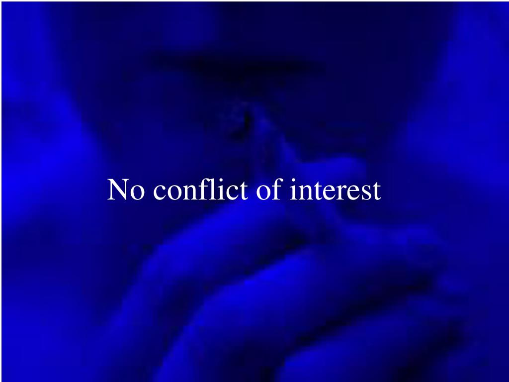No conflict of interest