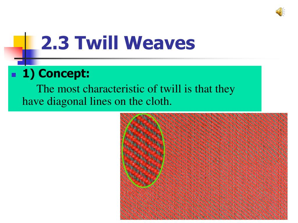 2.3 Twill Weaves