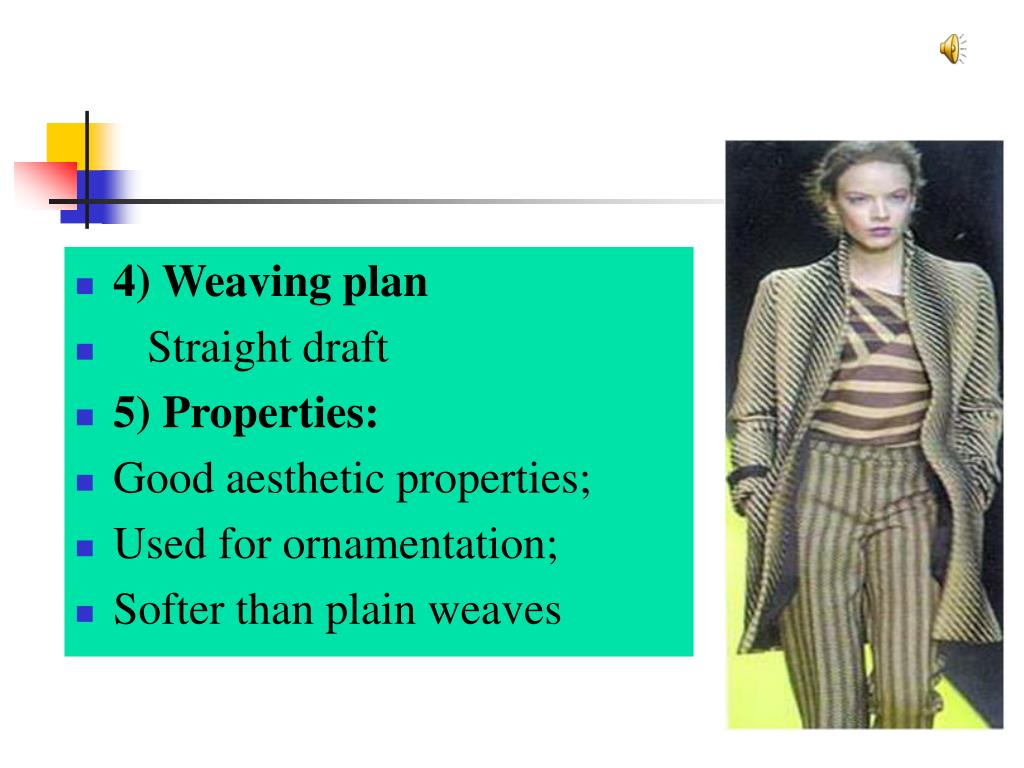 4) Weaving plan