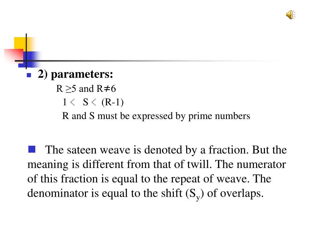 2) parameters: