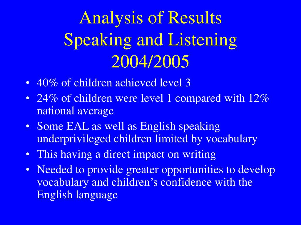 an analysis of listening Chapter 3 effective listening chapter 3 offers strategies for improvement in the understanding and retention of speech material, through effective listening and attention critical analysis and constructive post-speech feedback are discussed in detail.