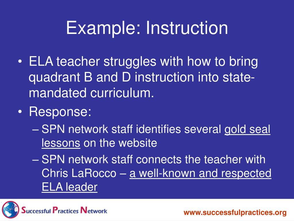 Example: Instruction