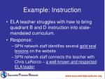 example instruction