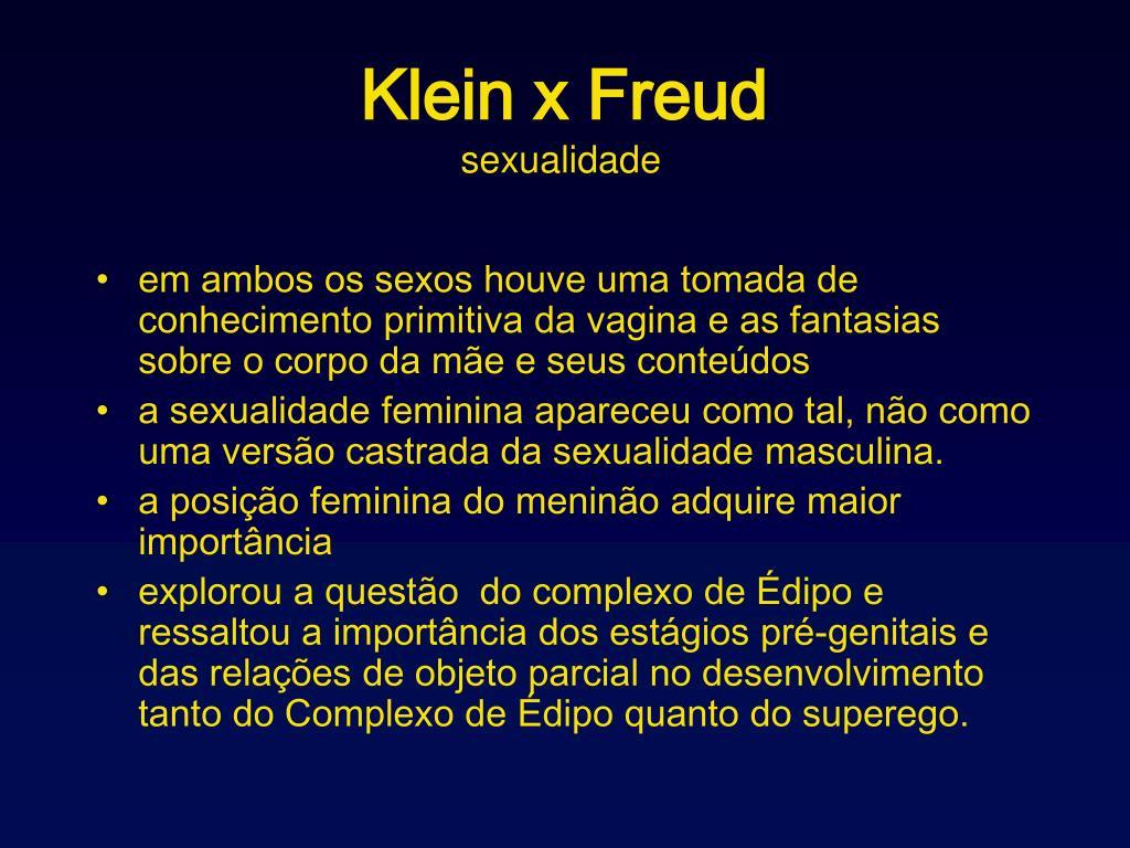 Klein x Freud