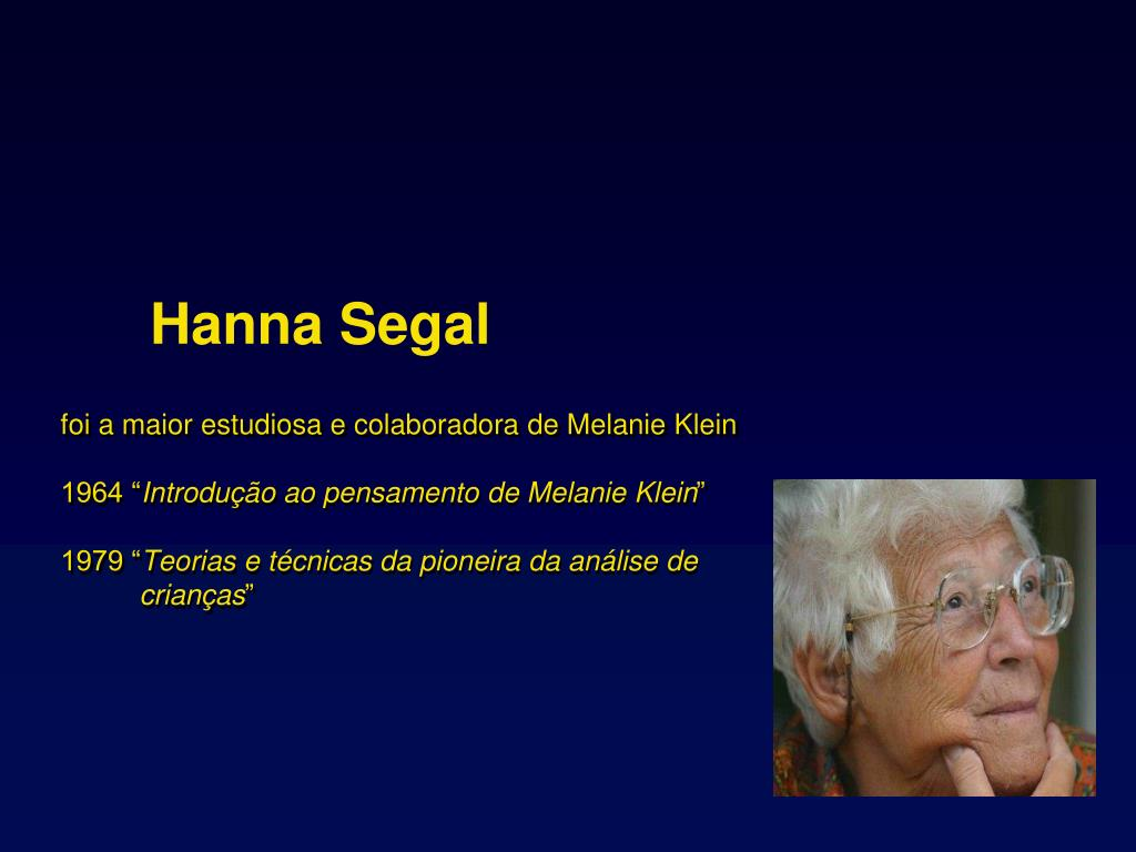 foi a maior estudiosa e colaboradora de Melanie Klein