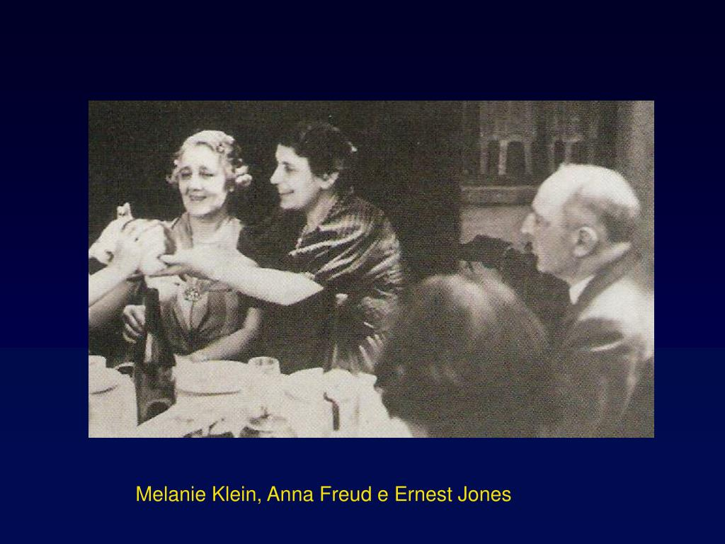 Melanie Klein, Anna Freud e Ernest Jones