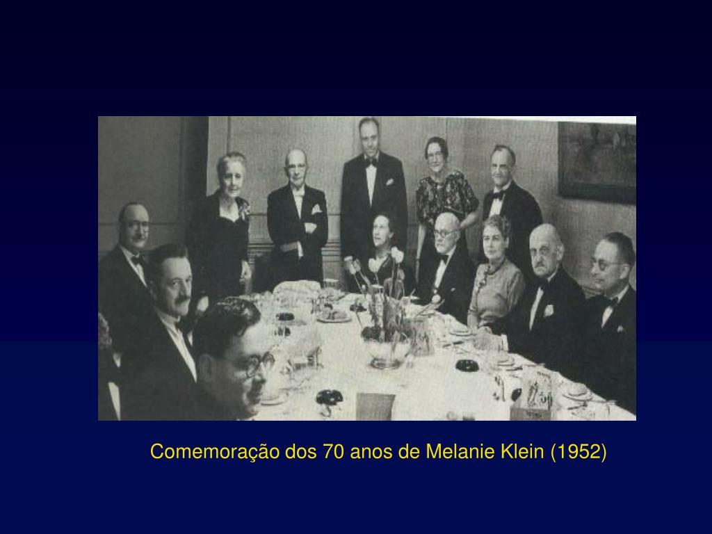 Comemorao dos 70 anos de Melanie Klein (1952)
